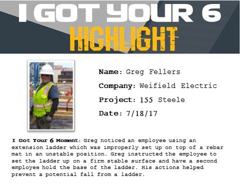I Got Your Six Highlight 7-18-17 Greg Fellers