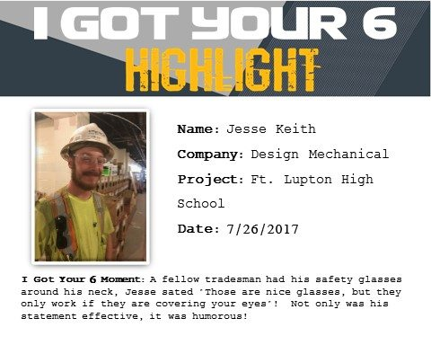 I Got Your Six Highlight 7-26-17 Jesse Keith