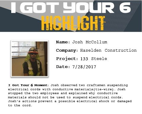 I Got Your Six Highlight 7-28-17 Josh McCollum