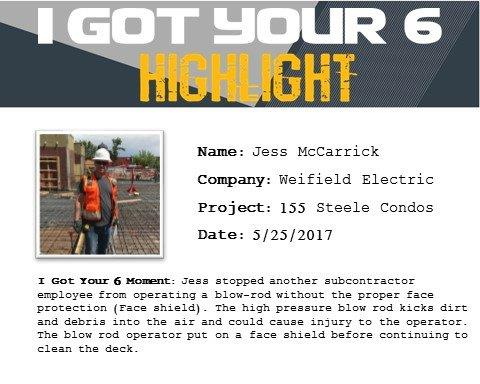 I Got Your Six Highlight - Jess McCarrick