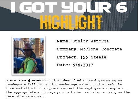I Got Your Six Highlight - Junior Astorga