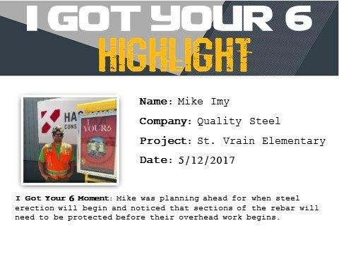 I Got Your Six Highlight - Mike Imy