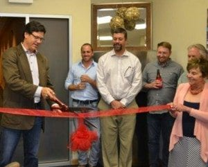 Haselden Chief Executive Officer Byron Haselden officially opens the company's newest office in Glenwood Springs, Colo.