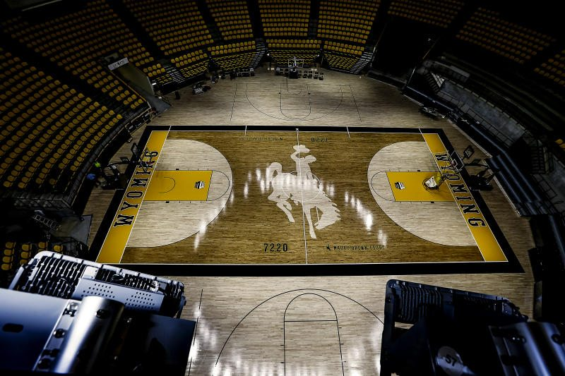 University of Wyoming Arena Auditorium floor