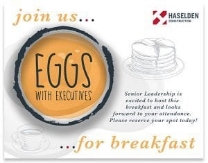 Eggs with Executives Invite
