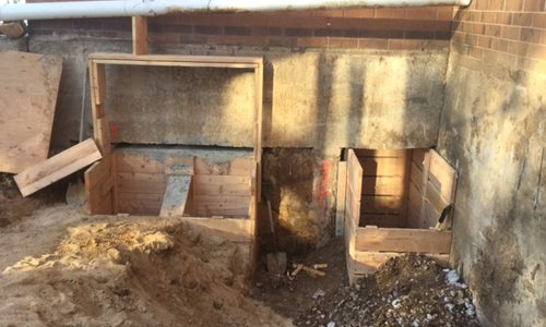 St. Thomas More Parish Underpinning for Elevator Shaft