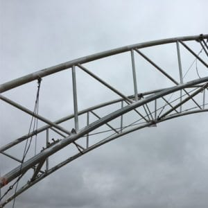 ClearSpan Truss installed by Haselden Miscellaneous Metals Team