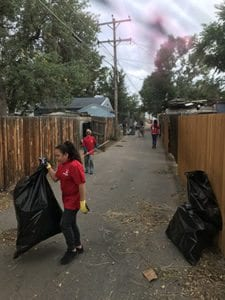 Haselden Extreme Community Makeover alley clean-up