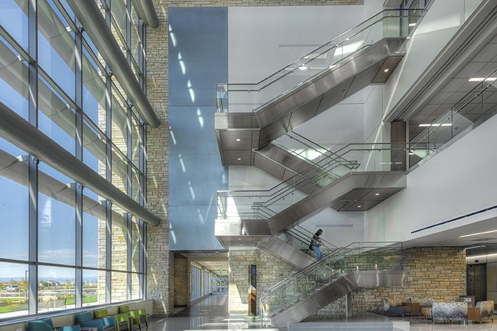 Haselden's UCHealth Longs Peak Hospital – Interior Staircase