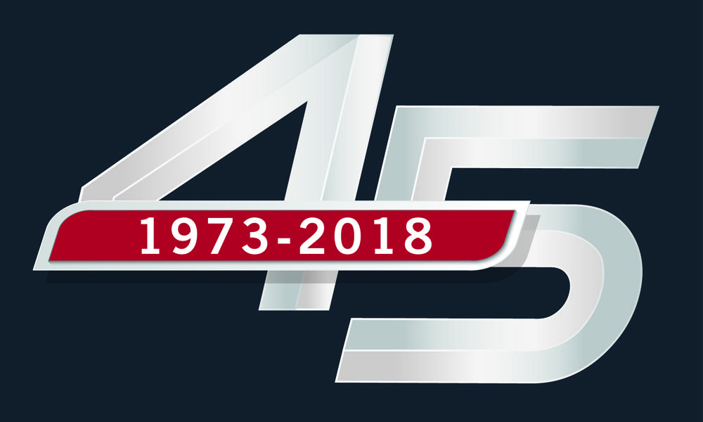 Haselden 45th Anniversary Logo