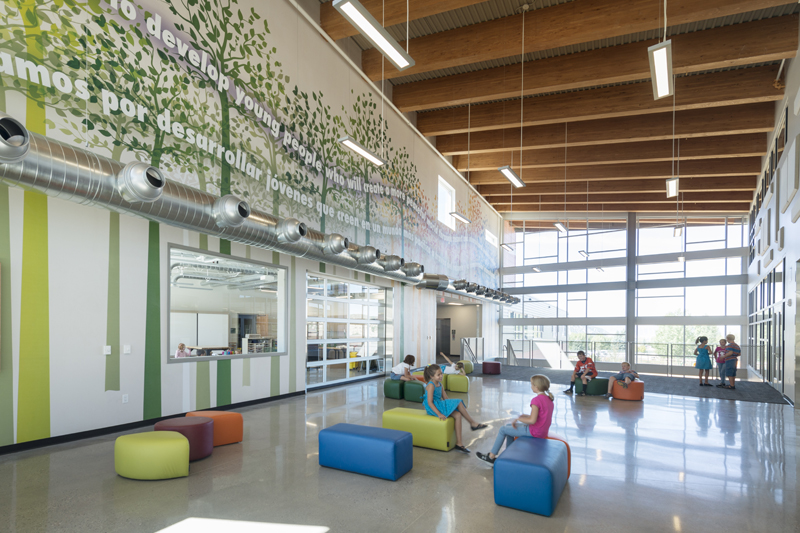 Eagle Valley Elementary School Lobby - Haselden Construction