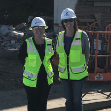 Senior Haselden Construction Project Engineer Gaby Godfrey and Haselden Construction Project Manager Amy Miller