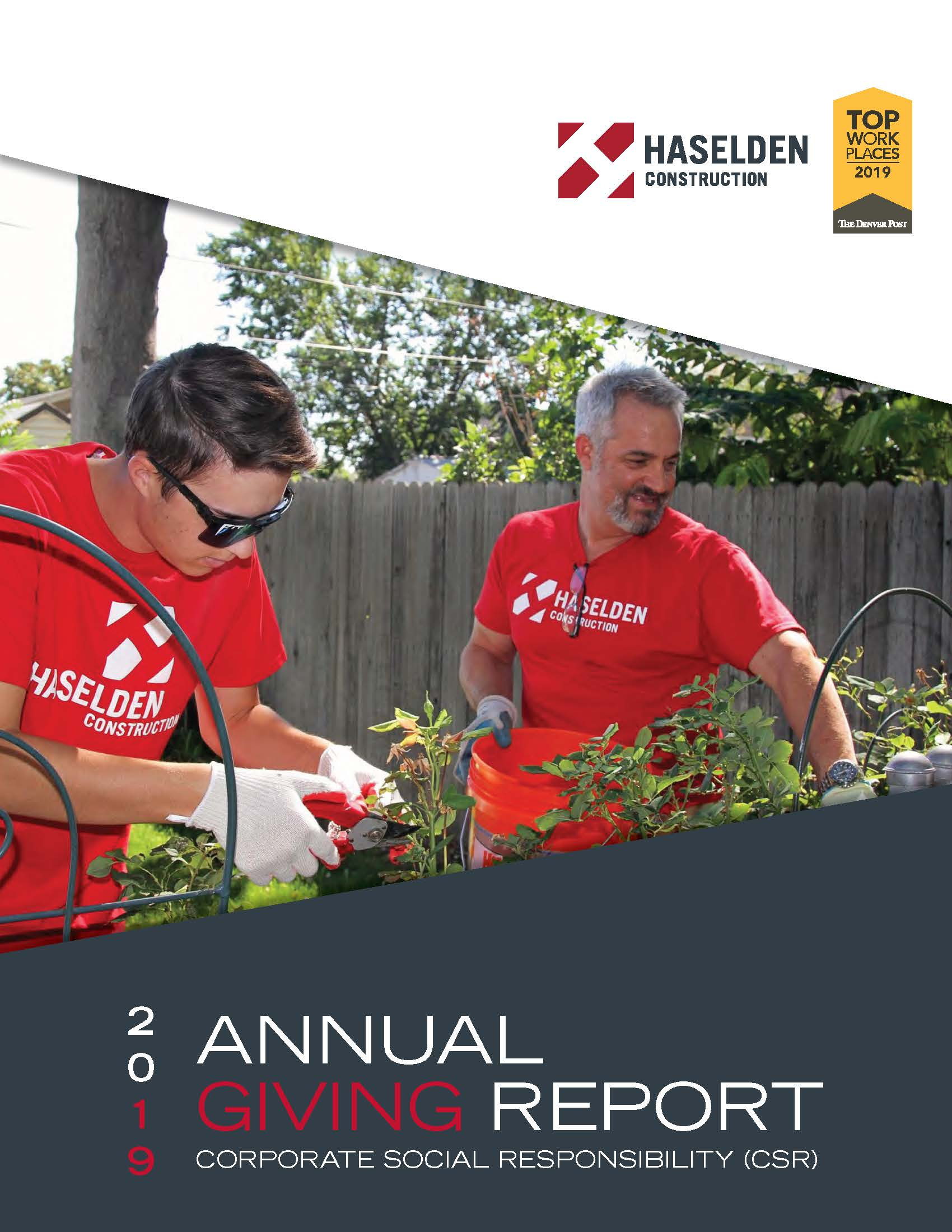 Haselden Construction Annual Giving Report