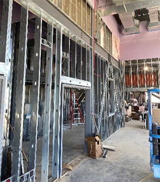 Haselden Construction Self-Perform Interiors - Dawson Innovation Center