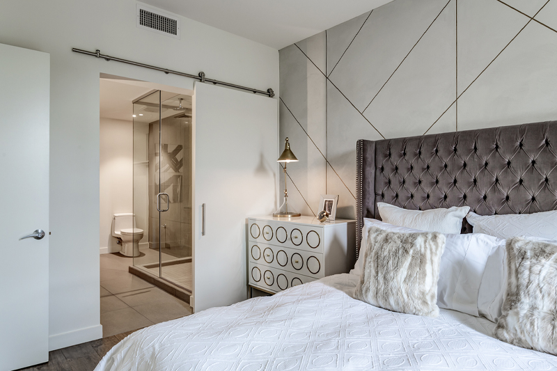 Contour Condominiums Bedroom - Haselden Real Estate Development