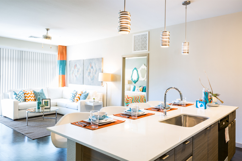iLuminate Apartments Kitchen and Living Room - Haselden Real Estate Development