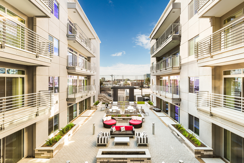 Linear Apartment Homes Courtyard- Haselden Real Estate Development