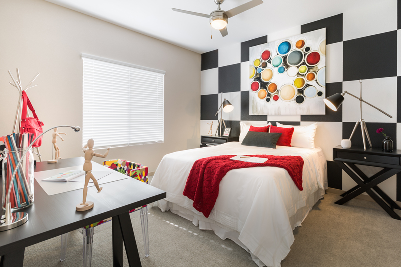 Linear Apartment Homes Bedroom- Haselden Real Estate Development